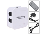 3 Port SPDIF TosLink Digital Optical Audio 3x1 Switch Switcher with Remote Control