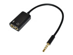 3.5mm stereo audio Splitter audio male to Earphone headset&microphone adapter