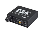 Volume Adjustable Digital Optical Toslink Coaxial to Optical Toslink Coaxial and 2RCA 3.5mm Stereo Analog Audio Converter