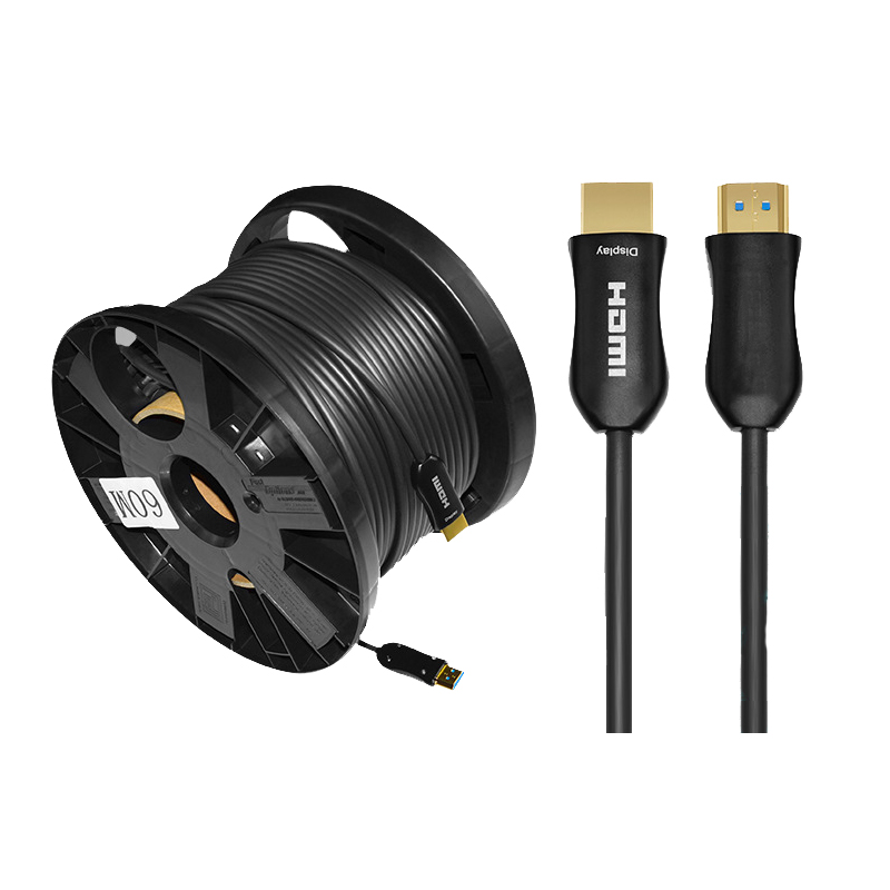 Optical HDMI 2.0 Cable 4K@60Hz Ethernet High Speed 18Gbps 4:4:4, 4:2:2, 4:2:0 3D 4K HDR HDCP 2.2 100m